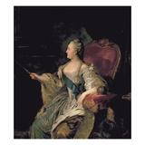 Portrait of Catherine The Great, 1763 Giclee-trykk av Fedor Stepanovich Rokotov