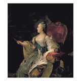 Portrait of Catherine The Great, 1763 Giclee Print by Fedor Stepanovich Rokotov