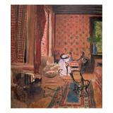 La Partie des Dames (The Board Game), c. 1905-10 Giclee Print by Edouard Vuillard