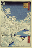 Drum Bridge Near Meguro, 1856-58 Giclée-vedos tekijänä Ando Hiroshige