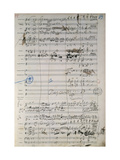 Page from Original Score of Madame Butterfly, Opera by Giacomo Puccini Giclee-trykk