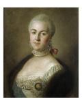 Portrait of Grand Princess Katharina Alexeievna, c.1761 Giclée-tryk af Pietro Antonio Rotari