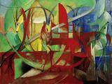 Gazelles, 1913-14 Giclée-tryk af Franz Marc
