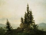 View into the Elbe Valley, 1807 Reproduction procédé giclée par Caspar David Friedrich