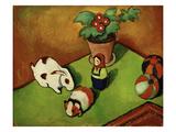 Walterchens Spielsachen (Walterchen's Toys), 1912 Giclée-tryk af Auguste Macke