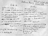 Page from the Original Manuscript of Madame Bovary by Gustave Flaubert Giclee-trykk