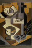Nature Morte à la Bouteille de Vin, 1918 Giclee-trykk av Juan Gris