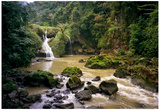 Rio Cahabon Emerges from Semuc Champey Photo Poster Posters par Mike Dillon
