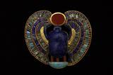 Tutankhamen, Scarab Pendant, Egyptian Lámina fotográfica