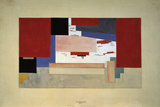 Suprematism (Sketch for a Curtain), 1919 Giclee-trykk av El Lissitzky