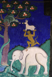 Thikse Monastery, Wall Painting, Ladakh, Himalaya Giclée-tryk
