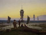 Die Lebensstufen (Strandszene in Wiek) (The Stages of Life), c.1843 Gicléedruk van Caspar David Friedrich
