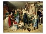Die Fleißige Tischlerfamilie (The Diligent Carpenter Family) Giclee Print by Johann Baptist Reiter