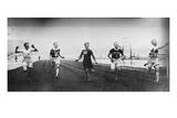 Men's 200m Race at the 1908 Summer Olympics in London Fotografisk trykk av  PROCESS BORDERED!