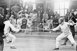 Fencing Competition in the 1912 Olympics in Stockholm Impressão fotográfica