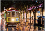 Cable Cars on Christmas Day Photo Poster Posters par Mike Dillon