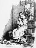 Flinkes Mädchen (Nimble Girl) Giclee Print by Ludwig Richter