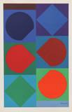 Beryll, from Souvenirs de Portraits d'Artistes. Jacques Prevert: Le Coeur l'ouvre Impressão colecionável por Victor Vasarely