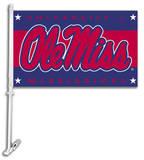 NCAA Mississippi Rebels Car Flag with Wall Bracket Flag