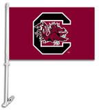 NCAA South Carolina Gamecocks Car Flag with Wall Bracket Flag