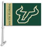 NCAA South Florida Car Flag with Wall Bracket Flag