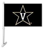 NCAA Vanderbilt Commodores Car Flag with Wall Bracket Flag