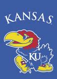 NCAA Kansas Jayhawks 2-Sided Garden Flag Flag