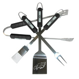 NFL Philadelphia Eagles Four Piece Stainless Steel BBQ Set BBQ Grill Set