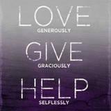 Love, Give, Help (purple) Stampe