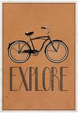Explore Retro Bicycle Player Art Poster Print ポスター