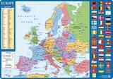 Desk Mat European Map Fleece-Decke