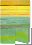 Layered Yellow and Green Abstract Posters por Marie C. Wattin