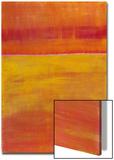 Warm Horizontal Abstract Poster por Marie C. Wattin