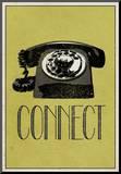Connect Retro Telephone Player Art Poster Print Impressão montada