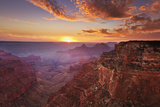 Cape Royal Viewpoint at Sunset, North Rim, Grand Canyon Nat'l Park, UNESCO Site, Arizona, USA Fotografie-Druck von Neale Clark