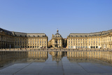 Le Miroir d'Eau (Mirror of Water), Place de la Bourse, Bordeaux, UNESCO Site, Gironde, France Photographic Print by Peter Richardson