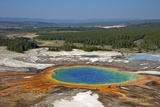 Grand Prismatic Spring, Midway Geyser Basin, Yellowstone Nat'l Park, UNESCO Site, Wyoming, USA Impressão fotográfica por Peter Barritt
