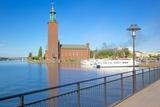 The City Hall and Riddarfjarden, Kungsholmen, Stockholm, Sweden, Scandinavia, Europe Fotografisk trykk av Frank Fell