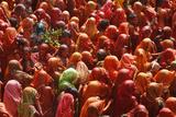 Holi Celebration in Dauji Temple, Dauji, Uttar Pradesh, India, Asia Photographic Print by  Godong