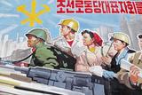 Propaganda Poster, Wonsan City, Democratic People's Republic of Korea (DPRK), North Korea, Asia Fotografie-Druck von Gavin Hellier
