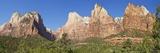 Court of Patriarchs, Abraham Peak, Isaac Peak, Mt Moroni and Jacob Peak, Zion Nat'l Pk, Utah, USA Reproduction photographique par Peter Barritt
