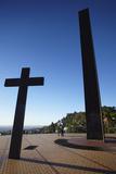 Monuments at Praca do Papa (Pope's Square), Belo Horizonte, Minas Gerais, Brazil, South America Photographic Print by Ian Trower