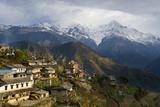 Ghandruk, 1990 Metres, Annapurna Himal, Nepal, Himalayas, Asia Lámina fotográfica por Ben Pipe