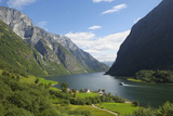 Naeroyfjorden, Near Bakka, Sogn Og Fjordane, UNESCO World Heritage Site, Norway Impressão em tela esticada por Gary Cook