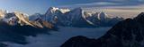 View from Gokyo Ri (5300 Metres), Dudh Kosi Valley, Solu Khumbu (Everest) Region, Nepal, Himalayas Lámina fotográfica por Ben Pipe