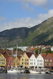 Bryggen, Vagen Harbour, UNESCO World Heritage Site, Bergen, Hordaland, Norway, Scandinavia, Europe Impressão fotográfica por Gary Cook