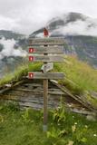 Homlongsaetra Mountain Farm, Geirangerfjorden Near Geiranger, UNESCO Site, More Og Romsdal, Norway Impressão fotográfica por Gary Cook