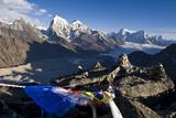 View from Gokyo Ri, 5300 Metres, Dudh Kosi Valley, Solu Khumbu (Everest) Region, Nepal, Himalayas Lámina fotográfica por Ben Pipe