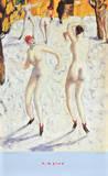 Dancers in the Snow Láminas por Alfons Walde