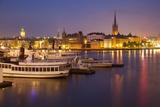 City Skyline from City Hall at Dusk, Kungsholmen, Stockholm, Sweden, Scandinavia, Europe Fotografisk trykk av Frank Fell